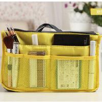 普润 包中包内胆包收纳袋化妆包便携洗漱袋女包手拿收纳包 黄色