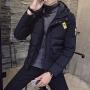棉服冬装新品短款袄子初高中学生加厚棉衣青少年潮流连帽外套DJ-DS207
