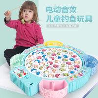 儿童钓鱼玩具小猫池套装磁性小孩宝宝女电动男孩子益智1-2-3周岁