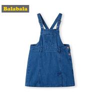 巴拉巴拉童装儿童连衣裙秋装新款韩版小童宝宝牛仔背带裙女童