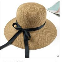 女士遮阳 可折叠防晒太阳帽子礼貌 潮大檐沿沙滩旅游草帽