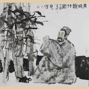 《东坡听竹图》魏杰,江西中国画学会理事,国家一级美术师EEAML991