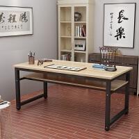 书法桌简易电脑桌双层办公桌课桌简约书桌书画桌画台写字台