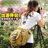 户外鞍袋包旅行包斜挎工具包男女单肩防水摄影单反相机包