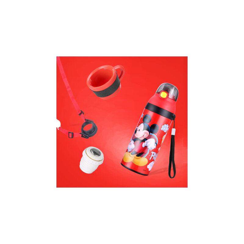 迪士尼儿童保温杯带吸管宝宝学饮杯婴儿喝水杯子防摔漏幼儿园水壶 一杯双用 感温变色 防漏抗摔