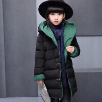 童装女童棉衣2017新款装外套中大童羽绒韩版时尚两面穿棉袄