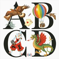 【现货】法语原版 ABCD 字母大开本艺术绘本56P 9782361934392