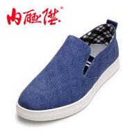 内联升内联升男鞋时尚休闲套脚单鞋春夏秋男式老北京布鞋DS6017