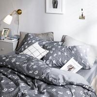 君别床上四件套床单被套欧式单人被罩冬季1.8m床1.5m床简约