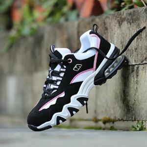 男士休闲运动鞋耐磨气垫情侣鞋黑色白色熊猫鞋韩版百搭女跑鞋