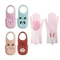 【家装节 夏季狂欢】厨房水槽沥水挂篮水池挂袋置物架收纳塑料小挂水龙头可爱卡通 +小兔手套
