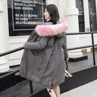 冬季棉袄女2018新款反季女中长款加厚羽绒棉冬装大毛领外套潮