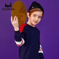 【限时抢:45】巴拉巴拉旗下 巴帝巴帝男童卫衣19春新款字母几何印花简约中大童