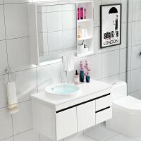 浴室柜组合落地式卫生间洗漱台洗手洗脸盆面盆池柜现代简约卫浴柜 0.6米挂墙式/一体盆