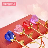 玫瑰花摆件七夕情人节礼物男朋友送女生老婆浪漫闺蜜创意礼品