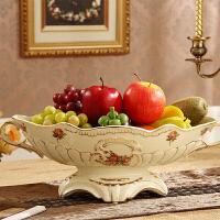大号欧式果盘陶瓷复古奢华果盆茶几创意家居时尚摆件装饰品水果盘