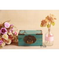 复古长方形特大号小号带锁储物箱木质箱子实木盒子木头小型收纳盒