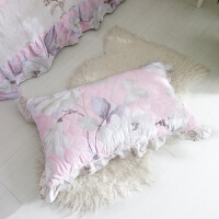君别公主花边枕套单人夹棉加厚枕套皮枕头套一对枕巾枕头盖巾学生 45CMX75CM