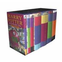英文原版 哈利波特1-7全集精装(英国儿童封面版) Harry Potter Hardback Boxed Set