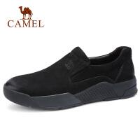 【满199减100元】camel骆驼男鞋 秋季新品青年复古新潮套脚休闲皮鞋乐福牛皮鞋