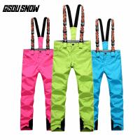 女款 保暖冬季户外滑雪裤 女士双板单板雪裤
