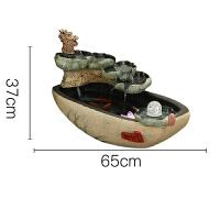 开业礼品创意假山流水喷泉摆件水景客厅风水轮鱼缸装饰加湿器