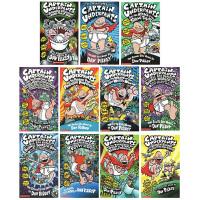 英文原版 内裤超人 Captain Underpants12册全套礼盒装 学乐儿童章节英语漫画