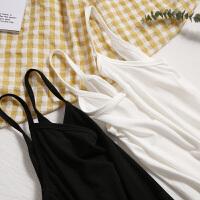 毛菇小象吊带小背心女学生短款无袖春季新款性感莫代尔纯色打底衫