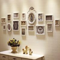 竖款欧式照片墙装饰相框创意实木挂墙背景相框墙客厅卧室玄关装饰