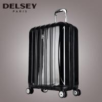 (可礼品卡支付)Delsey 法国大使 可扩充四轮拉杆箱 男女登机箱旅行箱轻盈行李包 旅行箱万向轮