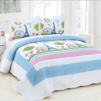 欧式全棉床盖三件套单件纯棉绗缝双人水洗夏凉空调被夹棉床单