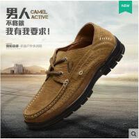 德国骆驼动感男鞋 新款男士日常休闲皮鞋 透气牛皮鞋子男A1618
