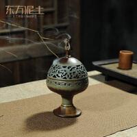 陶瓷仿古盘香香炉摆件创意家居居室复古檀香香薰炉博山炉