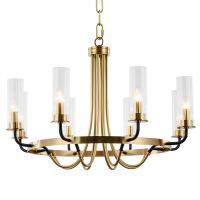 照明吊灯美式后现代铜灯北欧客厅LED护眼灯餐厅简约纯铜玻璃吸顶吊灯