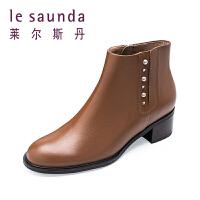 莱尔斯丹 秋冬季新款短筒女靴短靴切尔西靴 9T61255
