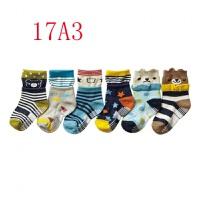 17年新款袜子 可爱男宝宝袜全棉卡通婴儿防滑袜子 新品儿童袜子