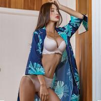 【韩国直邮】 花色性感长袍睡衣 DOROSIWA_07 Edge Lounge robe