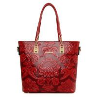 女包手提包民族风花朵女包六件套子母包中国风时尚斜跨单肩包