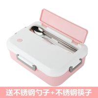 学生饭盒可微波炉加热专用三格饭盒学生女韩版可爱塑料保鲜盒学生带盖饭盒