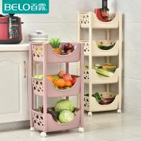 百露厨房置物架带轮落地蔬菜收纳架收纳筐储物架放菜架子用品用具