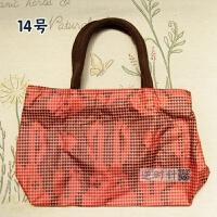 新款新款夏潮女包手拎便当包饭盒通勤单肩手提包时尚女包防水耐脏多色 红色 14号