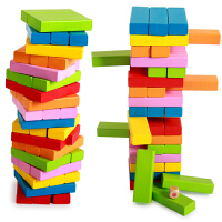 54粒叠叠乐数字叠高层层叠抽抽乐积木儿童益智力礼品
