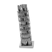 �燮� 全金��diy 建筑拼�b模型 3D�{米 立�w拼�D 比�_斜塔