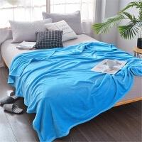 君别商场被子冬天单人珊瑚薄款盖毯子空调毛巾午睡法兰绒办公室小毛毯