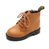 2018秋冬新款儿童马丁靴男童英伦风皮鞋靴子女童宝宝短靴小孩单靴