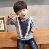 儿童毛衣男童高领针织衫加厚秋2017新款宝宝套头线衣男孩韩版潮