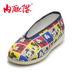 内联升童鞋【迪士尼】米妮混格米奇手工千层底老北京布鞋5456C