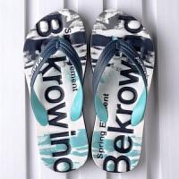 2019新款拖鞋男夏防滑人字拖男士沙滩鞋潮流个性学生户外夹脚凉拖 39 运动鞋码