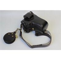 佳能canonEOS M10 M3 M2 M5 M6 M100微单相机包皮套手柄取电池世帆 EOS M5 黑色(18-