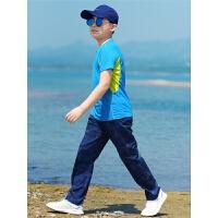 速干衣裤套装户外速干男女童套装儿童登山迷彩快干运动夏令营